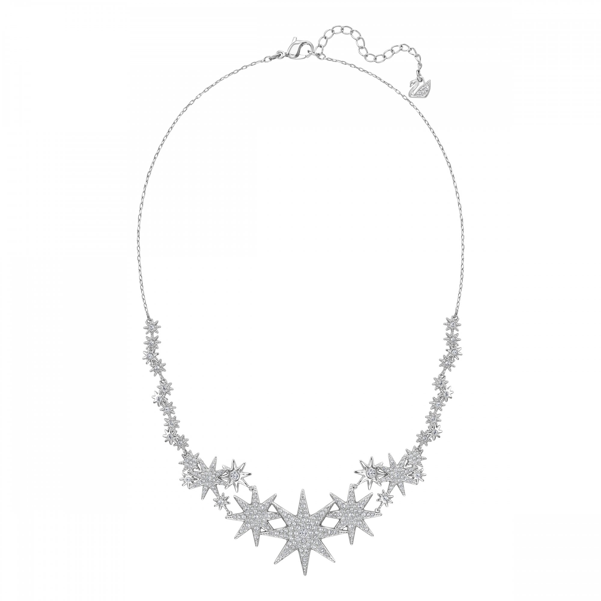 Colectivo diapositiva En consecuencia  SWAROVSKI FIZZY STAR NECKLACE, WHITE SWAROVSKI CRYSTALS , RHODIUM PLATED -  JEWELLERY from Adams Jewellers Limited UK