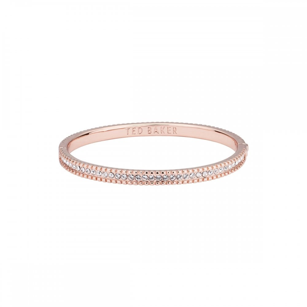 Ted Baker Cleomor Halo Crystal Bangle Rose Gold Jewellery From Adams Jewellers Limited Uk