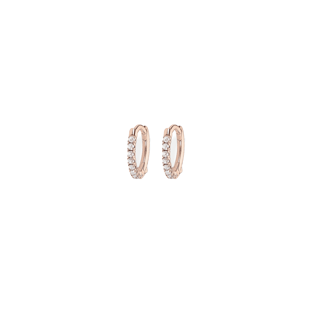 Thomas Sabo Rose Gold On Silver Zirconia Hoop Earrings Jewellery From Adams Jewellers Limited Uk